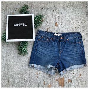 NWT Madewell Raw Edge Denim Boy Shorts